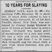 Felix Szczesny murder by the Associated Press on April 22, 1927