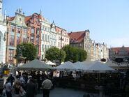 Gdańsk - Townhouses, Długi Targ street