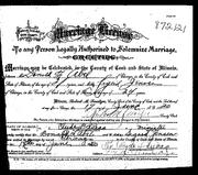 Abel Jensen 1920 marriage certificate