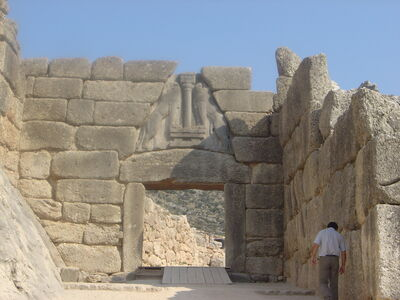 Mycenae lion gate dsc06382