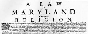 Large Broadside on the Maryland Toleration Act
