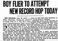 EddieAugustSchneider 1930August20 BoyFlierTo AttemptNew RecordHopToday.png