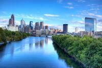 Philadelphia skyline August 2007