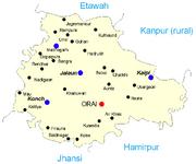 Map of Jalaun