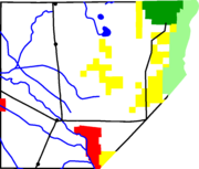 Map of Alamosa County, Colorado