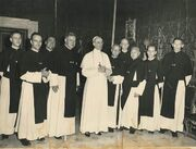 Kruisheren uden bij paus pius xii Crosiers from Uden Holland with PiusXII