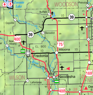 Map of Wilson Co, Ks, USA