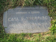 Carl Frederick Tandberg (1910-1988) tombstone at Eternal Valley Memorial Park in Newhall, Los Angeles, California