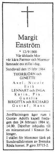 Wahlberg-Margit 1984 funeral