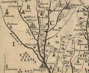 Pitesti, Curtea de Arges, Campulung (Cantacuzino map)