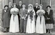 Wedding in 1951 of Grace Enid Baglin (1933-2006) to Ernest Raymond Russ