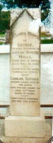 Grave of george & caroline mills