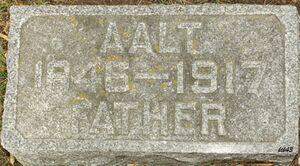 Aalt Arendsen headstone