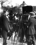 Coolidge with press