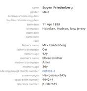 Freudenberg-Eugene 1899 birth