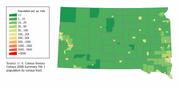 South Dakota population map