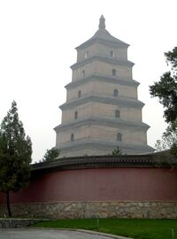 Wild goose pagoda xian china