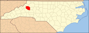 North Carolina Map Highlighting Caldwell County.PNG