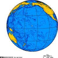 Orthographic projection over Kingman Reef