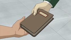 Six gives Rex a journal