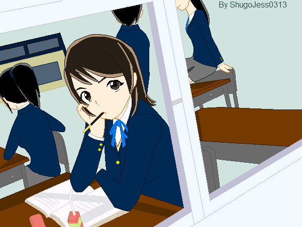 File:Akira in her school times.png