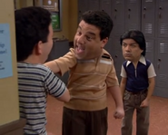 Tommy bullying Ernie as George watches