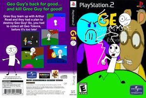 Geo Adventure Gree Guy's Returns PS2 front and back cover NTSC