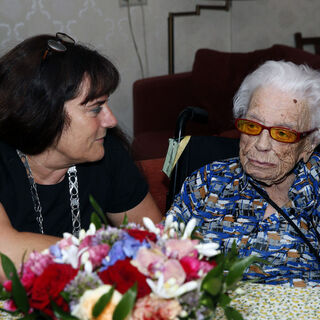 Geertje Kuijntjes at the age of 112.