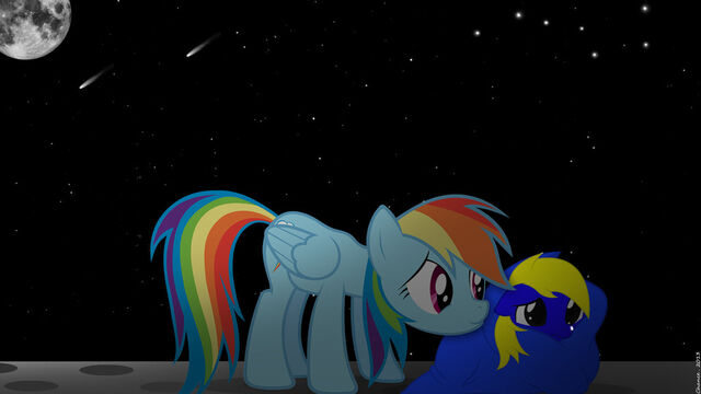 File:Rainbow dash comforting filly bronydanceparty by chanceh96-d5y6t12.jpg