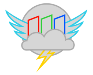 Cloudsdale weather corporation logo by haloheros-d7ul41a