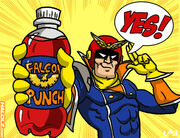 Halolz-dot-com-supersmashbros-fzero-captainfalcon-falconpunch-art