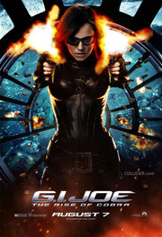 G.I. Joe The Rise of Cobra Baroness character banner movie poster