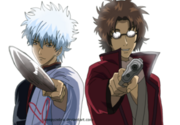 Gift art 1 gintoki and sakamoto by sleepyzebra-d4n5a0u