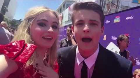 Sabrina Carpenter and Corey Fogelmanis Reunited At The 2017 Radio Disney Music Awards