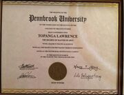 Topanga's College Degree