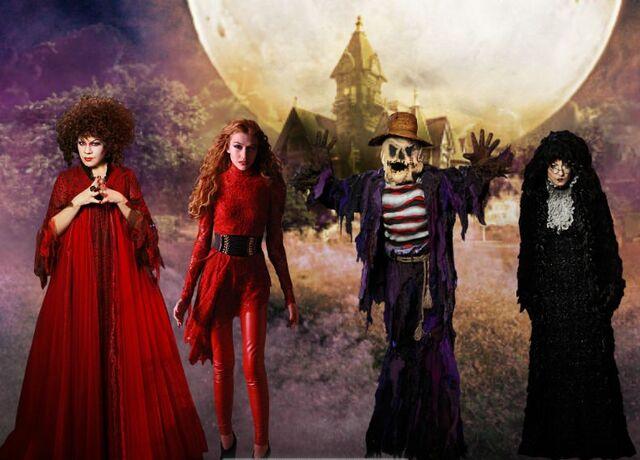 File:Deimata the ancient one, Myra Santelli, Bob the scarecrow, and Theadosia the witch.jpeg
