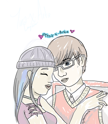 File:Tina x Artie Love by Artemismoon12.png