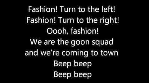 Glee's fashion night out - lyrics