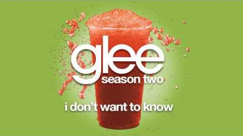 I Don't Want To Know (Quinn Solo Version) - Glee Cast HD FULL STUDIO