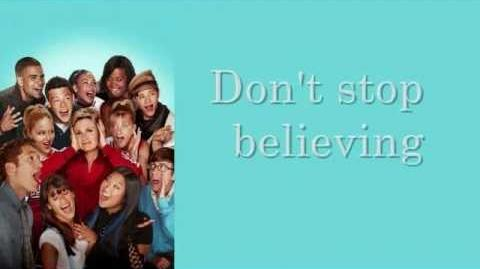Glee - Don't Stop Believin' (Lyrics) Regionals Version