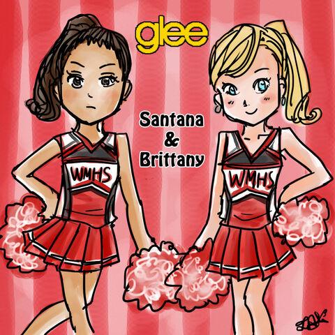 Arquivo:Glee santana and brittany by fiolox-d35bzau.jpg