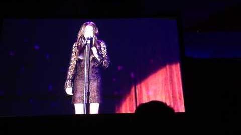 Naya Rivera singing Silent Night @ Trevor Project Live 2012