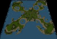 Lau Lagoon Map