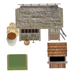 File:Japanese Peasant house2 s.png