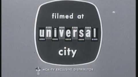 "Universal Television ""Blinking Negitives"" Logo (1963-B) B&W"