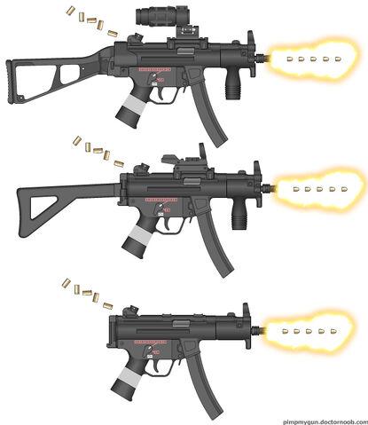 File:Maschinenpistole 5 Kurz 3 (Three Different Ones).jpg