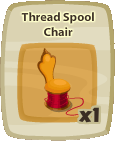 Inv Thread Spool Chair