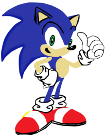 My first vector of sonic the hedgehog by flutterflyraptor-d5d133j