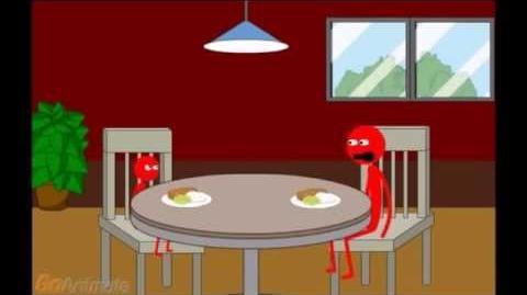 Elmo Misbehaves at Dinner