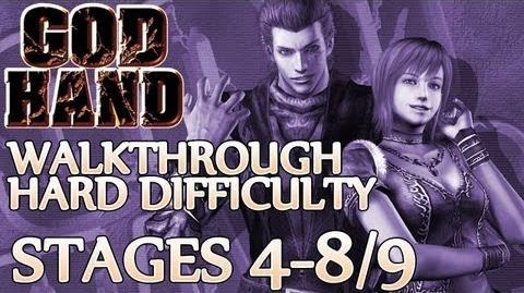 ★ God Hand Walkthrough ▪ Hard Mode - Stage 4-8 4-9 ▪ Azel Devil Hand Boss Fight 1